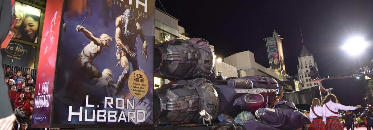 Battlefield Earth spaceship float