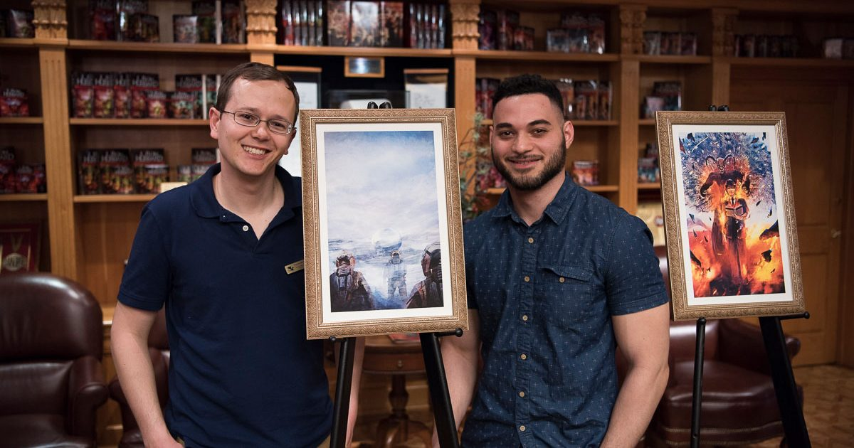 Dustin Steinacker with artist Yader Fonseca