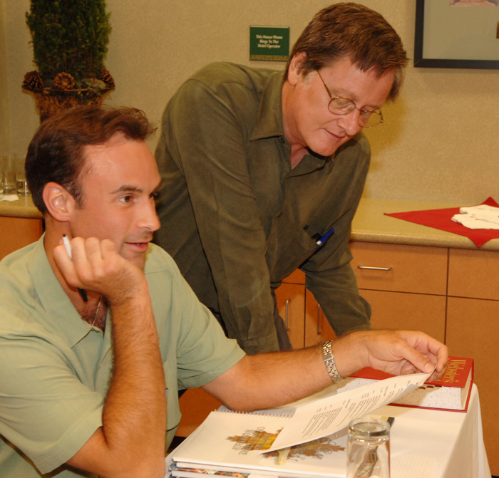David Sakmyster with Tim Powers at the Writers Workshop