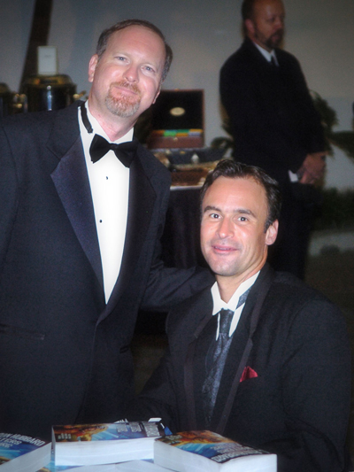 Kevin J. Anderson with David Sakmyster at the Writers of the Future Awards Ceremony