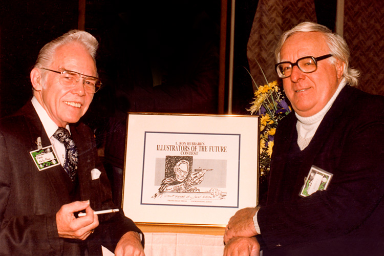 Frank Kelly Freas with Ray Bradbury