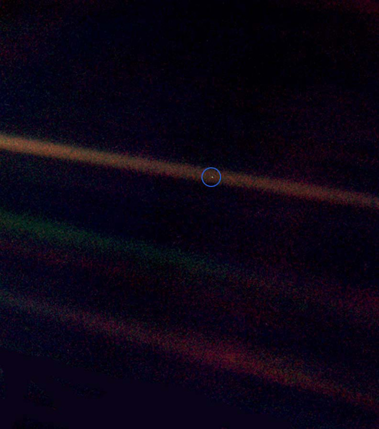 Earth as seen from Voyager 1 - a