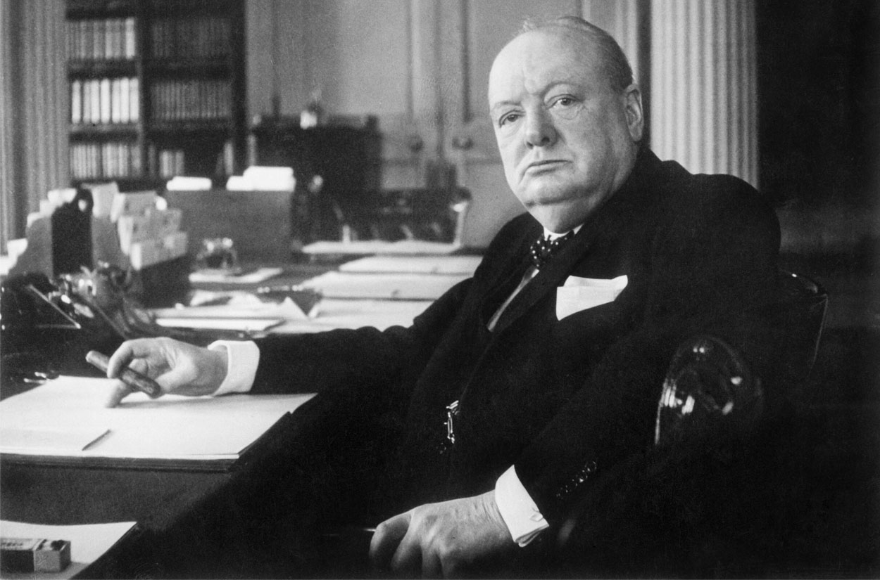 photograph of Sir Winston Churchill
