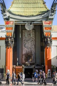 Walking past the Chinese Theatre on Hollywood en route to the workshop.