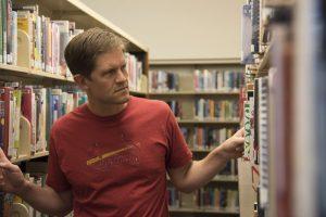 David VonAllmen at the library.