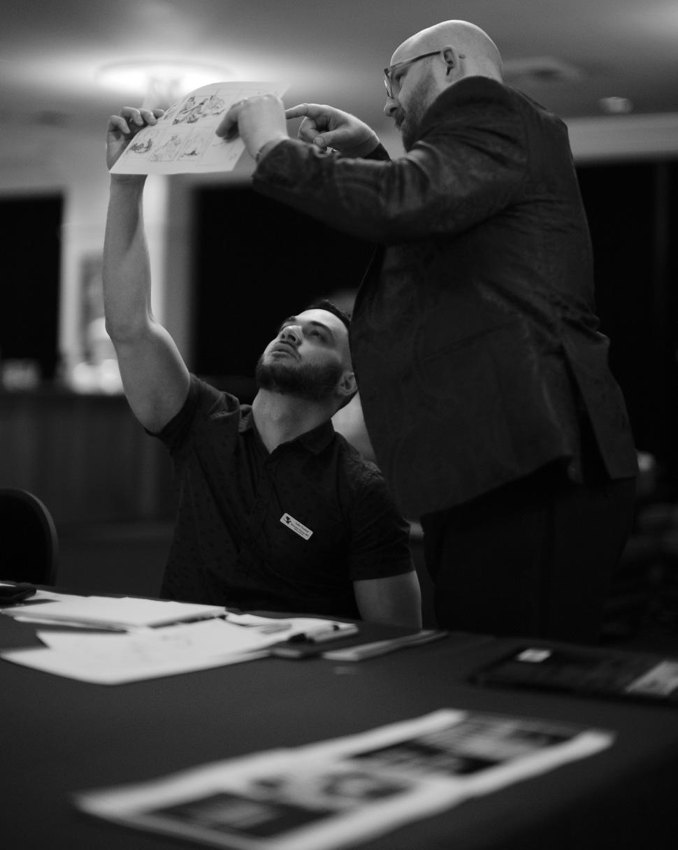 Yader Fonseca with Instructor Lazarus Chernik. (photo by Thorsten von Overgaard)