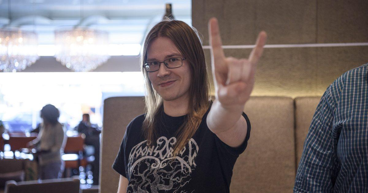 Writer winner Ville Merilainen