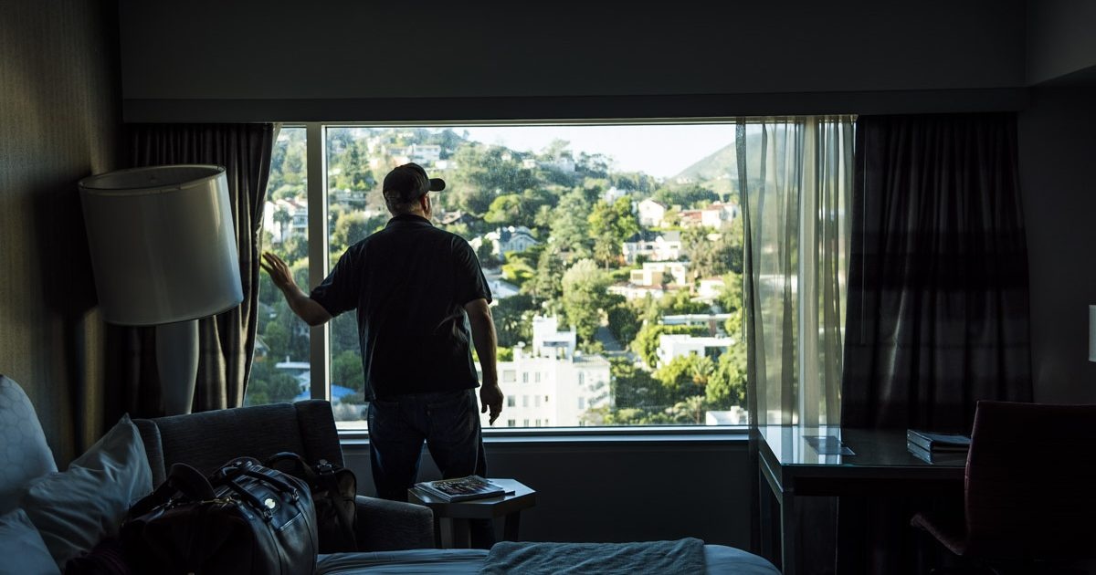 View of the Hollywood Hills from the hotel