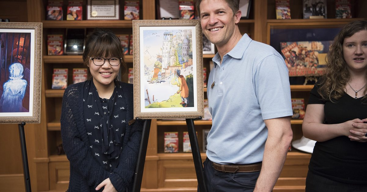 Artist Chana Kim with David VonAllmen