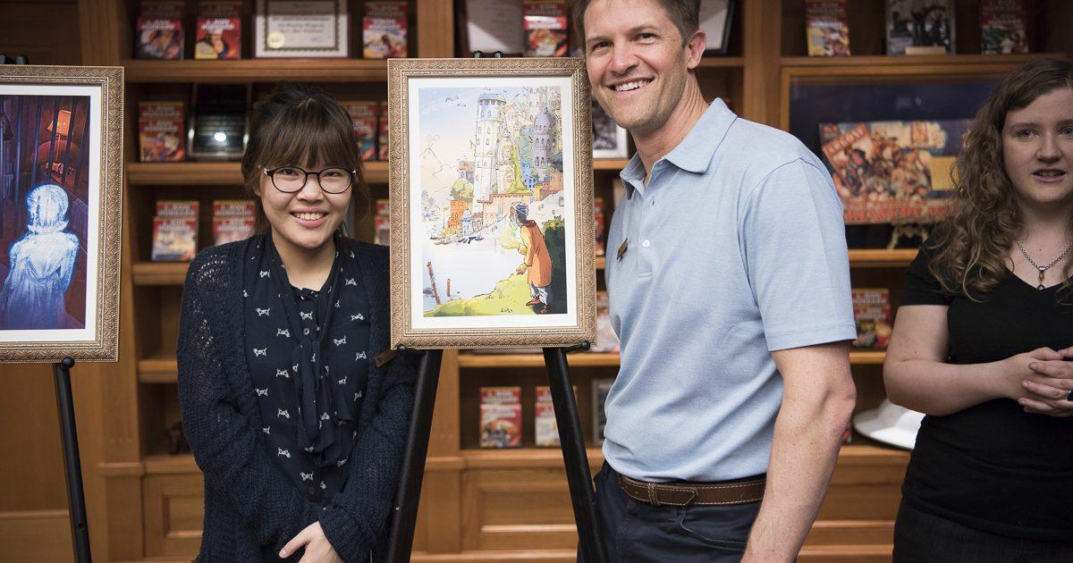Artist Chana Kim with David VonAllmen