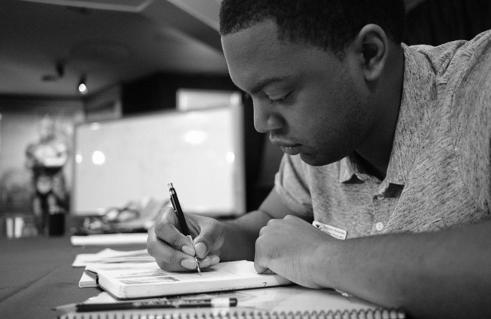 Anthony Moravian during Illustrators Workshop 2017