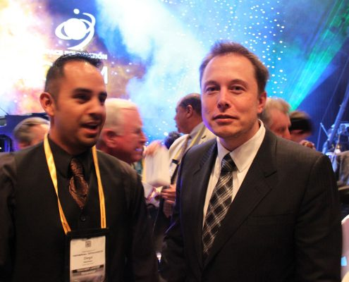 Diego Martinez with Elon Musk