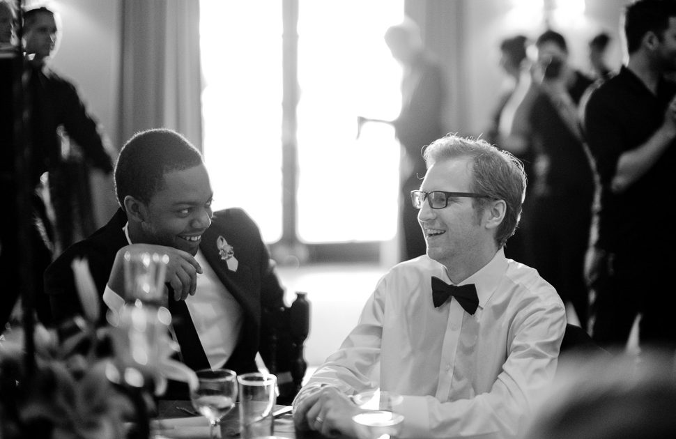 Anthony Moravian at awards dinner with fellow artist David Furnal