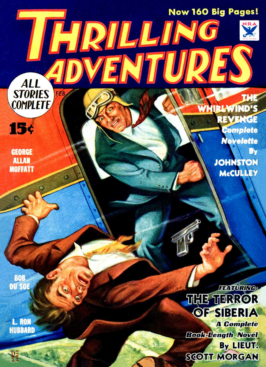 """The Green God"" in the February 1934 issue of Thrilling Adventures"