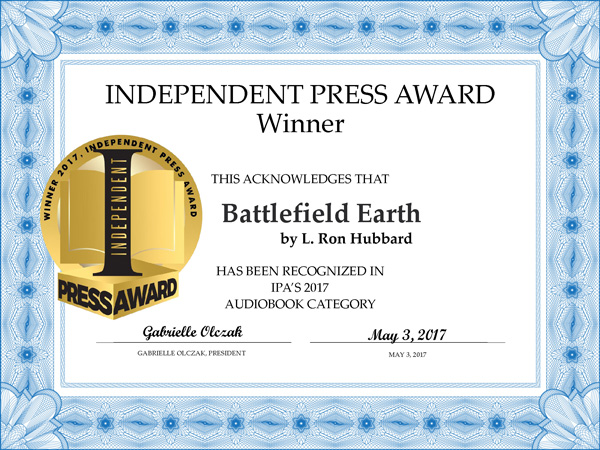 Battlfield Earth audiobook IPA award