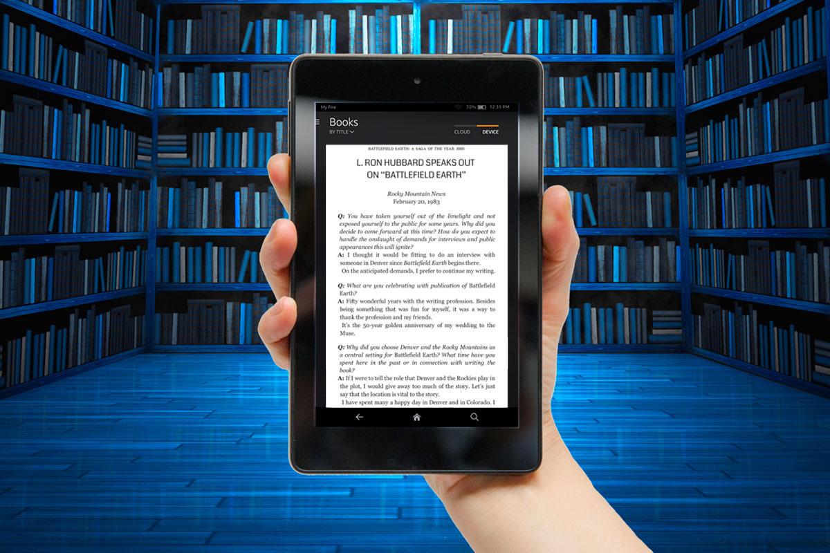 Battlefield Earth on a Kindle