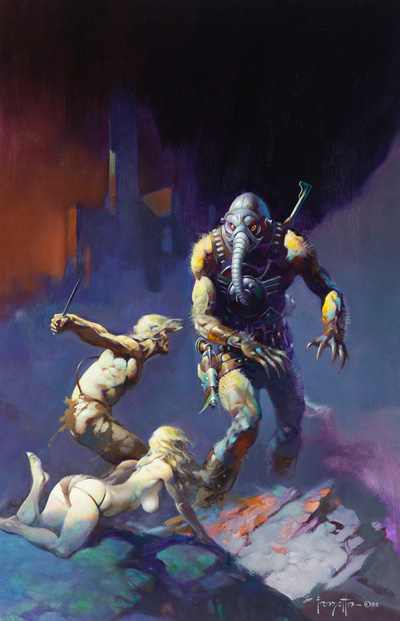 """Battlefield Earth"" by Frank Frazetta"