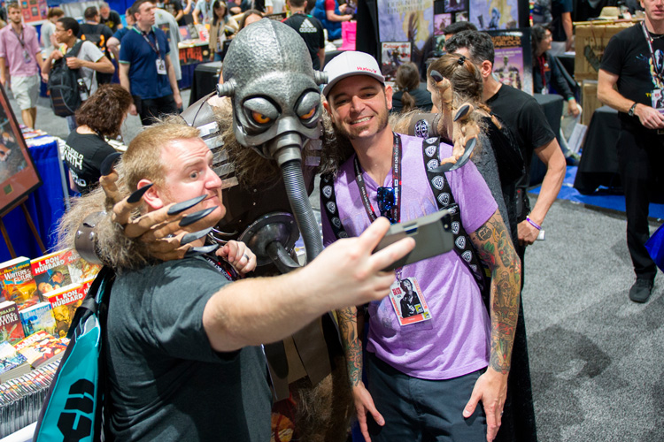Terl gets a selfie with fans