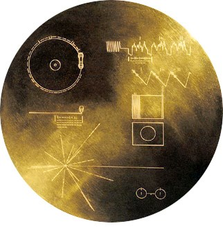 The Golden Record into space