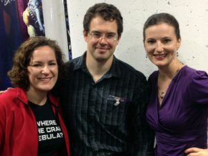 Sarah and Emily from Galaxy with Christopher Paolini