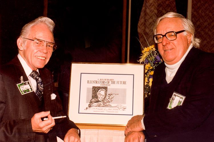 Frank Kelly Freas with Ray Bradbury