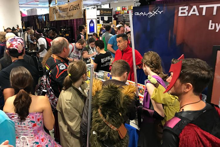 Galaxy Press booth at Dragon Con 2017