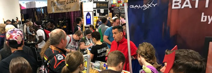 Galaxy Press booth at Dragon Con 2017