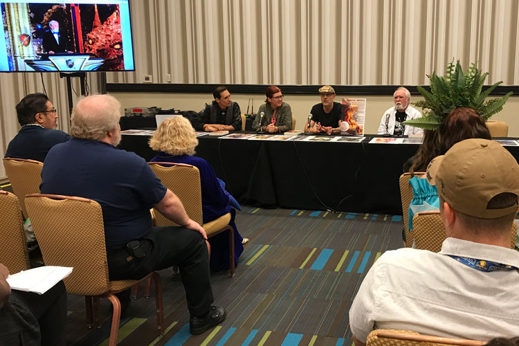 Illustrators of the Future judges: Ciruelo, Echo Chernik, Stephan Martiniere and Larry Elmore