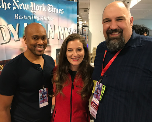 Ramon Terrell and Larry Correia with Emily Goodwin