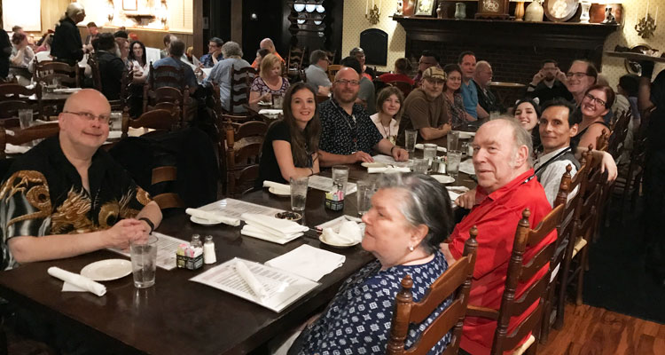 Writers & Illustrators of the Future judges at dinner