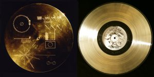 Golden disc carried on Voyager.