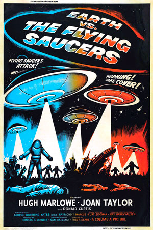 Earth vs Flying Saucers movie poster