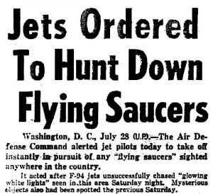 Jets Ordered to Hunt Down Flying Saucers