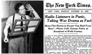 Orson Welles and newspaper headlines