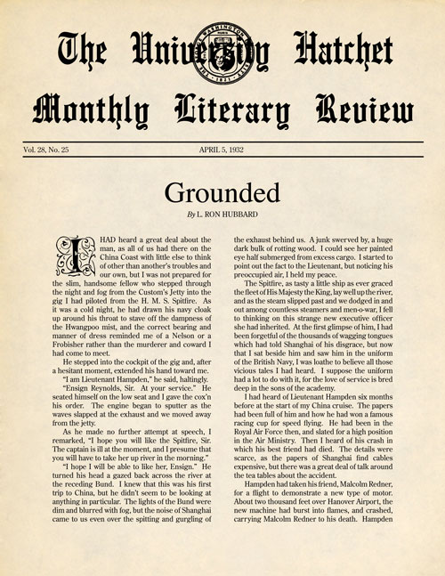 Grounded, published in 1932 in George Washington University Hatchet