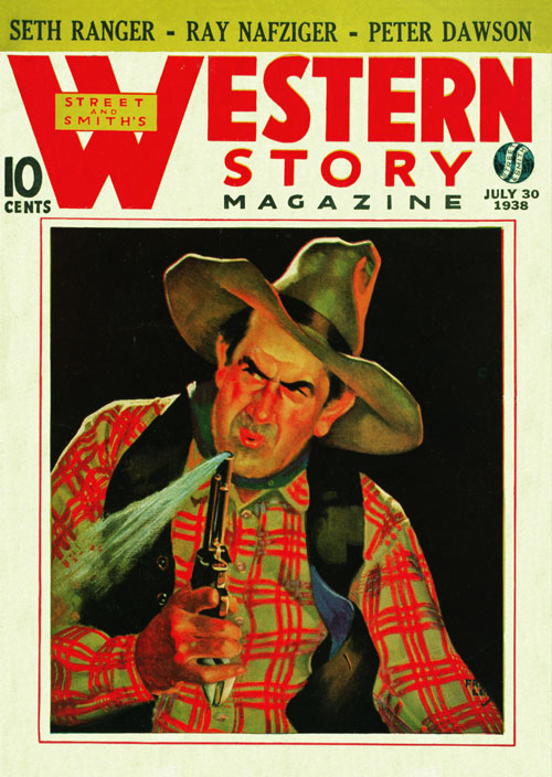 Ride 'Em, Cowboy!, published in 1938 in Western Story Magazine