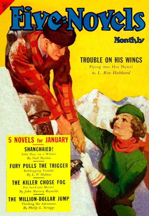 Trouble on His Wings, published in 1939 in Five-Novels Monthly