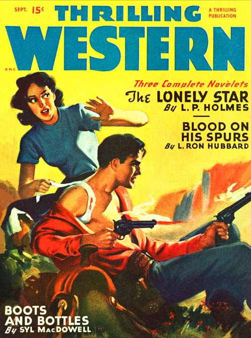 Blood on His Spurs, published in 1949 in Thrilling Western