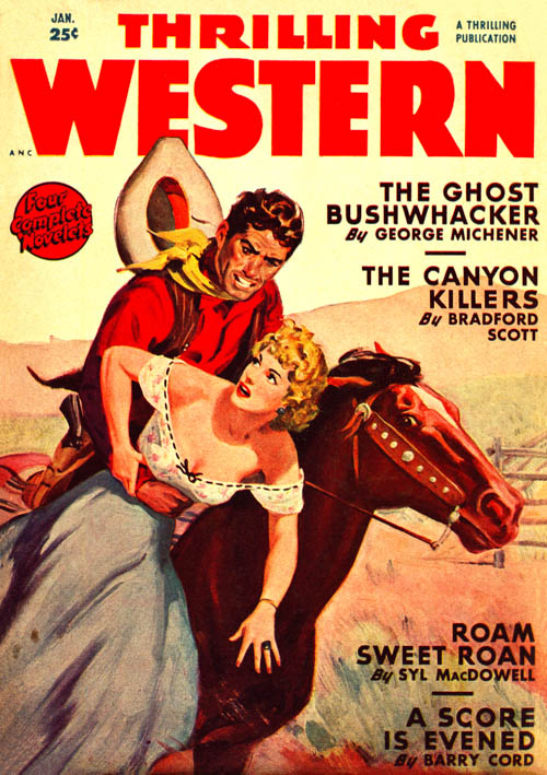 Hoss Tamer, published in 1950 in Thrilling Western