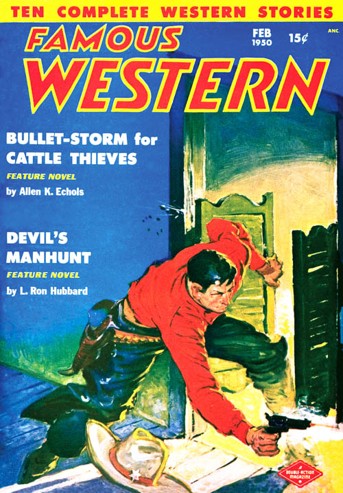 Devil's Manhunt, published in 1950 in Famous Western