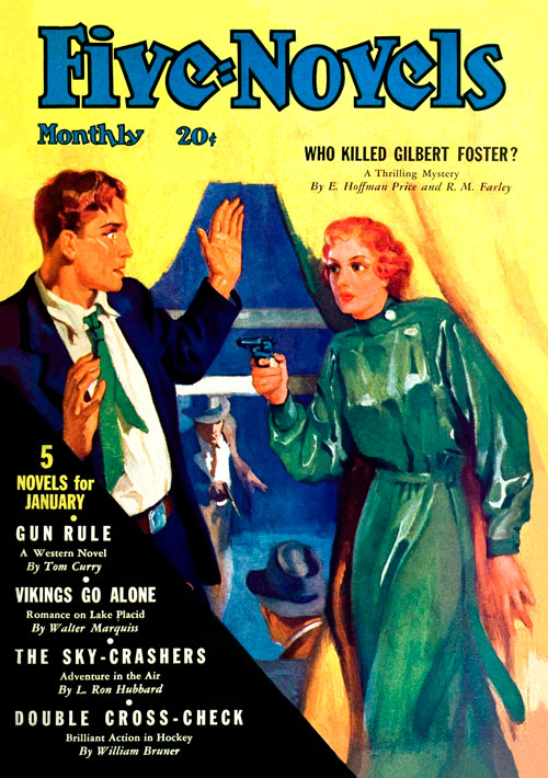 The Sky Crasher, published in 1936 in Five-Novels Monthly