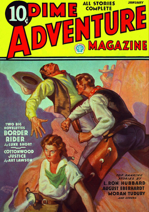Starch and Stripes, published in 1936 in Dime Adventure Magazine