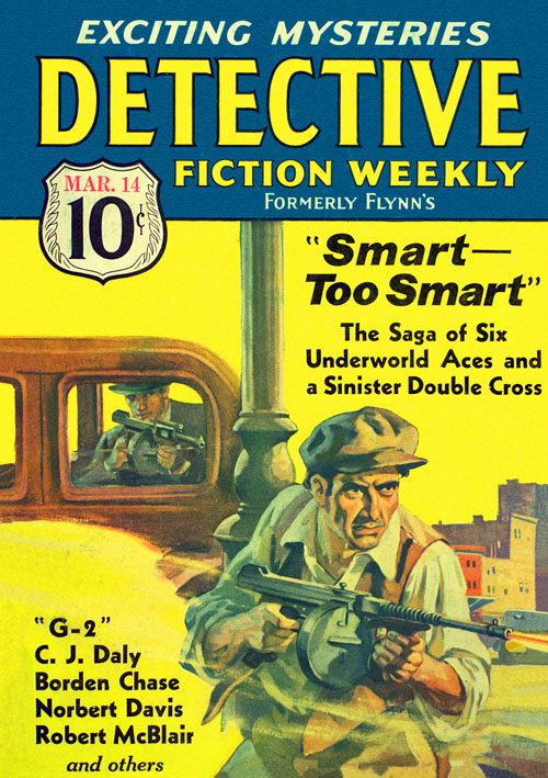 The Blow Torch Murder, published in 1936 in Detective Fiction Weekly