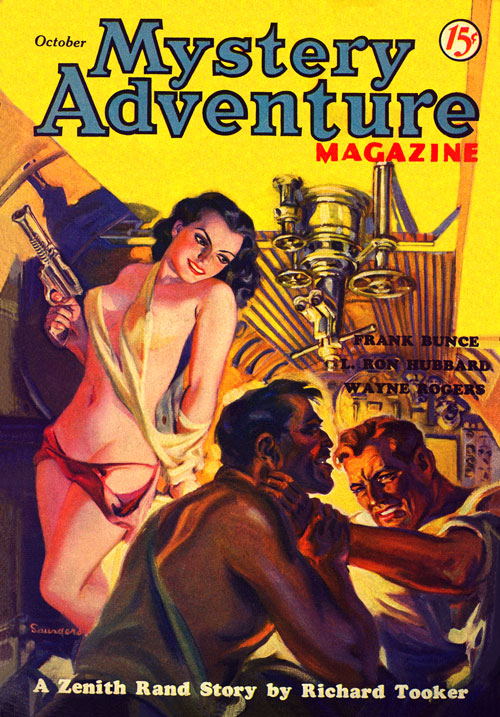 Flaming Arrows, published in 1936 in Mystery Adventure
