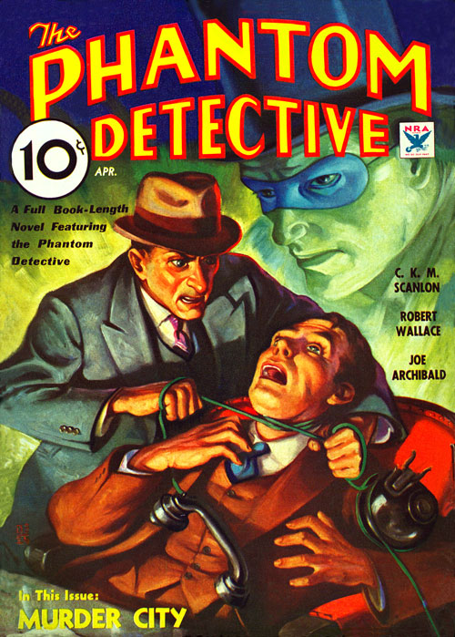 Calling Squad Cars!, published in April 1934, in The Phantom Detective