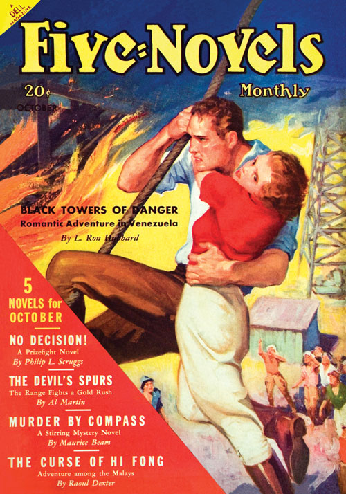 Black Towers to Danger, published in 1936 in Five-Novels Monthly