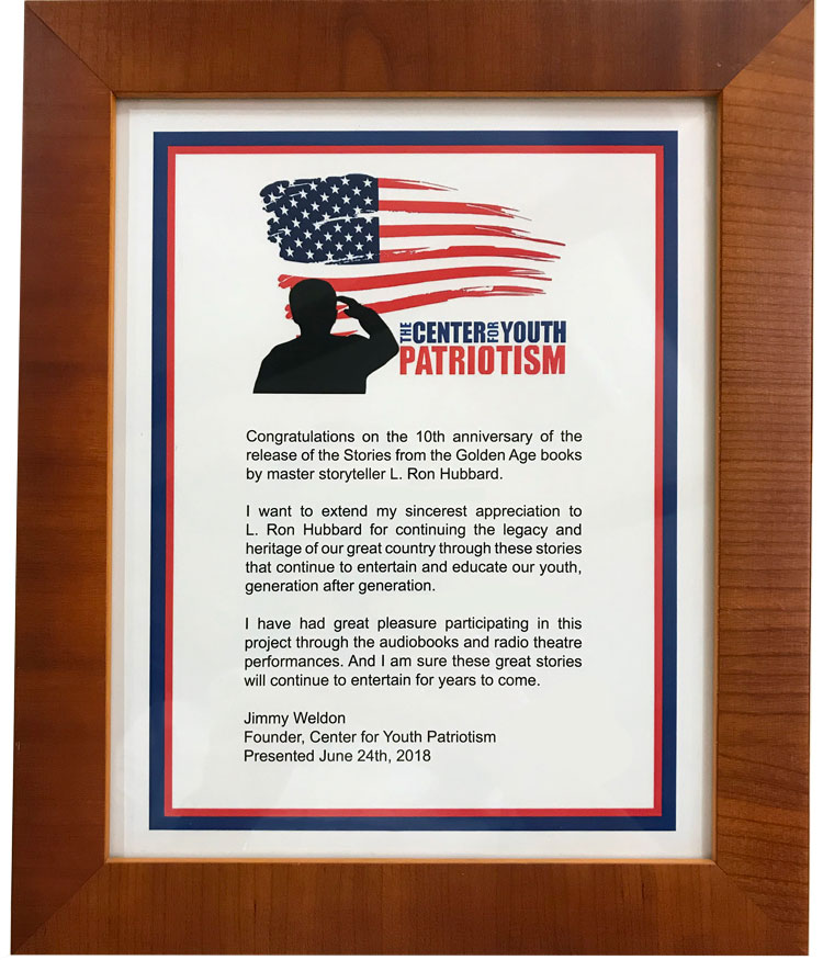 The Center for Youth Patriotism Award