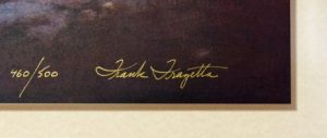 Frazetta signature on lithographic print