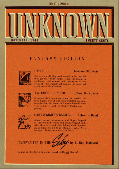 Typewriter in the Sky, Part 1, published in 1940 in Unknown