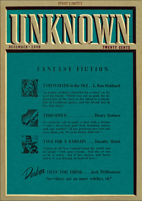 Typewriter in the Sky, Part 2, published in 1940 in Unknown